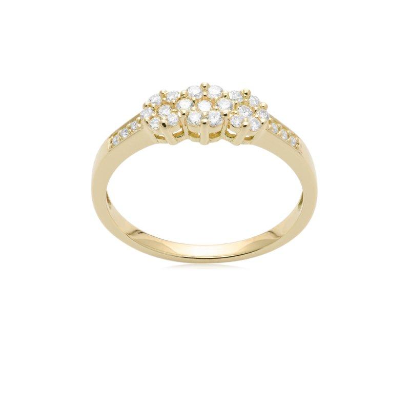 Złoty pierścionek z diamentami