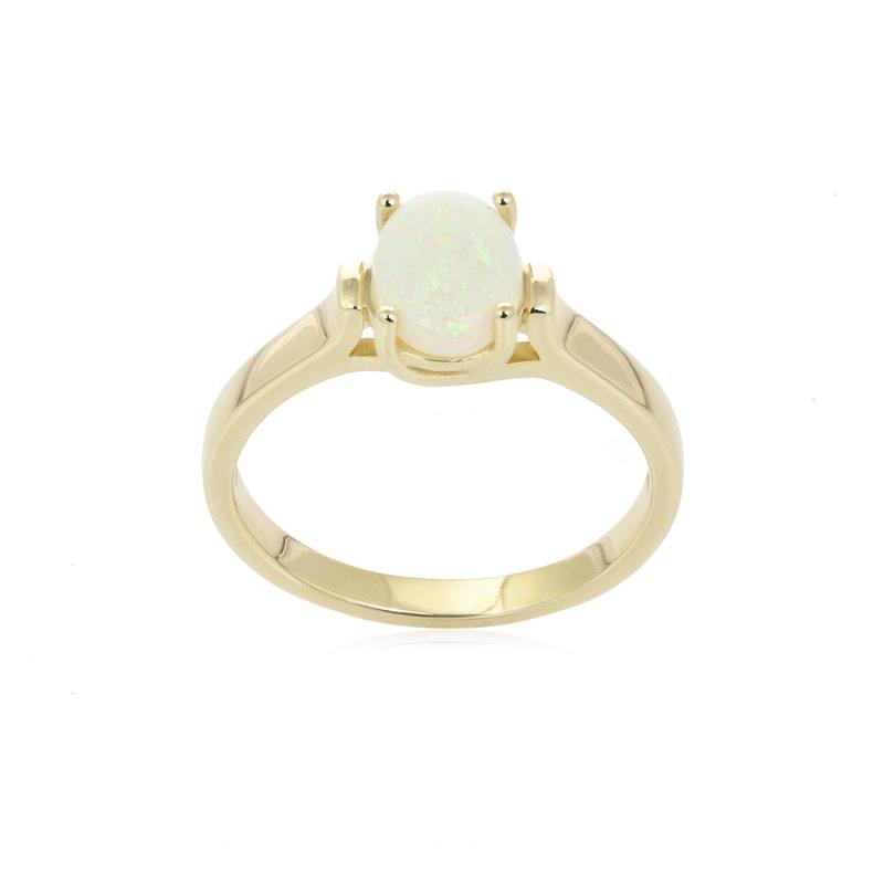 Złoty pierścionek z opalem